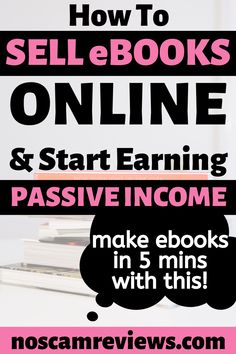 Find out how to make and sell ebooks online! You'll discover places to sell ebooks, how to do it and how to make your ebooks in just 5 minutes! You can use this method to build passive income online. Ways To Earn Money, Earn Money From Home, Make Money Blogging, Way To Make Money, How To Make, Money Tips, Online Income, Online Earning, Earn Money Online