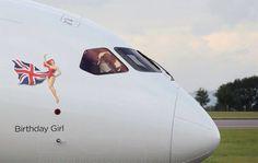 VS B787-9. G-VNEW. BIRTHDAY GIRL Plane Design, Virgin Atlantic, Civil Aviation, Airplanes, Agriculture, Girl Birthday, Pilot, Aircraft, Commercial