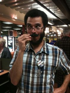 Cashier at Whole Foods in Hillcrest CA LOVES the stache