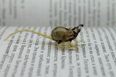Rat Glass Miniature Animals Glass Art Glass by miniatureglass