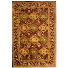 Safavieh Handmade Tabriz Wine Wool Rug