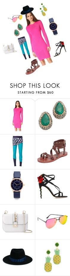 """wonderful Fashion"" by emmamegan-5678 ❤ liked on Polyvore featuring Thierry Mugler, Native Gem, adidas, Tory Burch, Marc Jacobs, Dolce&Gabbana, Valentino, Quay, Maison Michel and Mercedes Salazar"