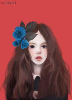 ❤٩(๑•◡-๑)۶❤                                                Blue rose