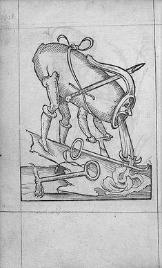 François Desprez,  f. G1 [i.e. H1] v° Dessin 108  Les Songes drolatiques de Pantagruel  A Paris : Par Richard Breton 1565