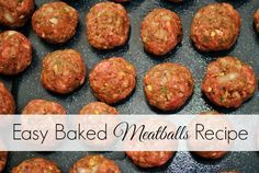 Homemade Meatballs taste so much better than store bought! I love making this Easy Baked Meatballs Recipe for my family and it's ready in no time! Enjoy!