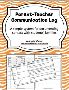 FREE: Parent-Teacher Communication Log: Forms for Documenting Phone Calls and More