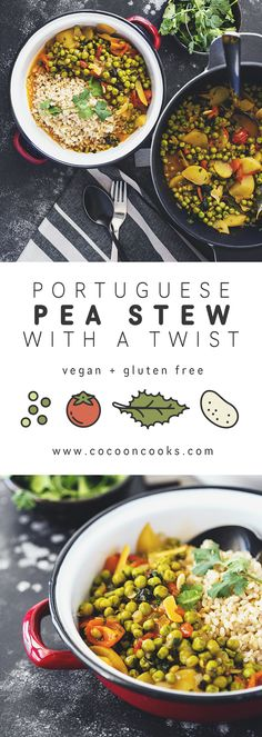 A typical portuguese dish meets its fragrant veggie version. 100% plant-based and oh so good for you! #vegan #recipe