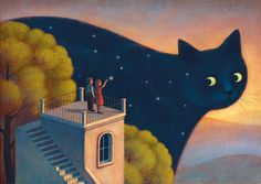 """""""Eyes of the night"""" - Illustration by Paolo Domeniconi"""