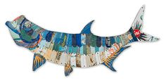 Trophy Fish Collection: Tarpon by Dolan Geiman: Metal Wall Art available at www.artfulhome.com