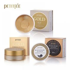 1 x Gold & EGF Hydrogel Eye Patch. 1 x Black Pearl & Gold Hydrogel Eye Patch. - Black Pearl which includes 20 various kinds of mineral. Gold Skin, Gold Eyes, Face Care, Skin Care, Anti Aging Cream, Sleep Mask, Eyelash Extensions, Whitening, Collagen