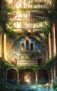 Sanatorium- JonasDeRo With a few decades of abandon, a neglected warehouse can effortlessly become the playhouse of adventurous children who are always covered in dirt and never home in time for dinner.