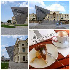 Dresden - Hechtviertel - Museum der Bundeswehr - Architektur Daniel Liebeskind - Museumskaffee mit Eierschecke