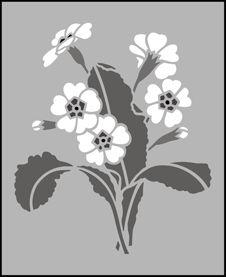 Click to see the actual 143 - Primrose  stencil design.