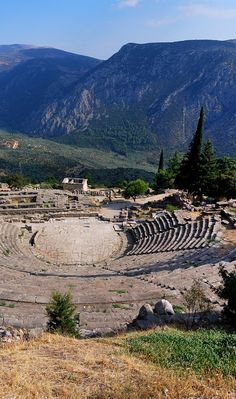 The ancient theatre in Delphi, Greece