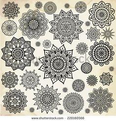 Mandala Round Ornament Pattern Vintage Decorative Elements Hand on Home Decor Ideas 3801 Mandala Tattoo Design, Dotwork Tattoo Mandala, Floral Mandala Tattoo, Indian Patterns, Vintage Patterns, Ornament Pattern, Schulter Tattoo, Mandalas Drawing, Vintage Drawing