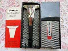 Vintage Gillette Techmatic Razor in Box with Instructions EC