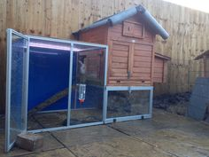 Rabbit enclosure and surrounding made with acrylic and plastic sheets.