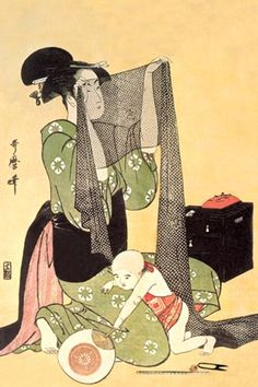 Mother and Child by Kitagawa Utamaro #japanese #art #mother_and_child