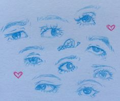Eyes!! I love drawing em and here are sum in my style ^^