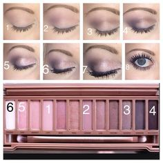 The perfect bridal palette Naked 3 tutorial Hair and makeup by Emily
