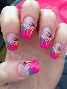 Bright Abstract by Sammy88 via @nailartgallery #nailartgallery #nailart #nails #mixedmedia #handpainted