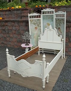 Shabby Chic Paint Technique | Kawaii Chic TWIN BED Recycle Shabby Bedroom Furniture by picks4u on ...