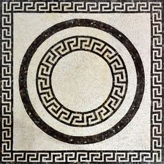 Greco-Roman Mosaic Pattern Marble Stone Artwork by Mozaico on Etsy Mosaic Designs, Mosaic Patterns, Pattern Art, Marble Art, Tile Art, Marble Tiles, Stone Tiles, Ancient Greek Sculpture, Mosaic Art Projects