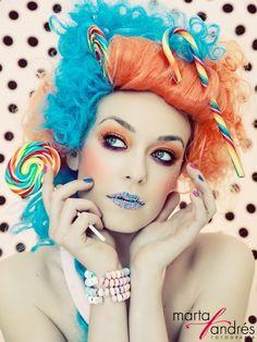 Weekend makeup inspiration not by me Candy Girls, Photoshoot Inspiration, Makeup Inspiration, Costume Bonbon, Candy Pop, Candy Shots, Candy Paint, Candy Makeup, High Fashion Makeup