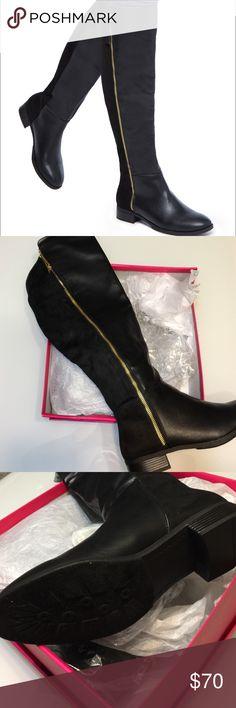 Shoedazzle Landa Boots Brand new, never worn Shoedazzle Landa Boots. Size 9.5. Gold hardware. Shoe Dazzle Shoes