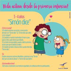 """""""Simón dice"""" (para niños de 3-4 años)."""