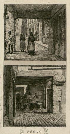 Rue de la Tonnellerie 1866 (disparue lors de la construction des Halles Centrales par Baltard)