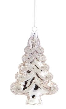 "Melrose International - Tree Ornament 5.5""H Glass"