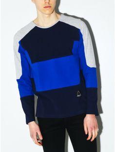 General Idea color block sweatshirt