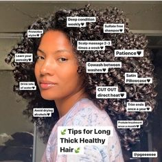 Tips For Thick Hair, Curly Hair Tips, Curly Hair Care, Curly Hair Styles, Curly Hair Growth, Curly Hair Routine, Thicker Hair Tips, Mixed Curly Hair, Black Hair Growth