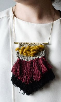 handwoven Necklace Accesories by RanranDesign on Etsy
