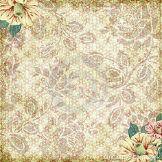 Vintage floral grunge background with an antique style