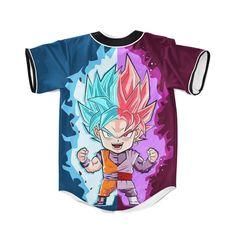 DBZ Goku SSGSS God Blue Rose Saiyan Chibi Baseball Jersey — Saiyan Stuff  Dbz 37bfa665f