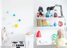 white desks space for kids 18 Creative And Modern Desk Space For Kids New Swedish Design, String Shelf, Ideas Habitaciones, Desk Space, Modern Desk, Kid Spaces, Kidsroom, Kids Decor, Kids Furniture