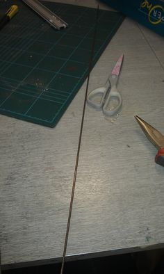This is a picture of a metal rod that I had decided to use for my wire vessel.