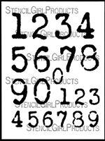 Vintage Typewriter Numbers Stencil by Carolyn Dube