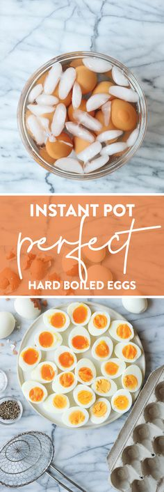 Instant Pot Perfect Hard Boiled Eggs - Now your eggs will come out absolutely perfect every time in the pressure cooker! All you need is 3-7 min! That's it!