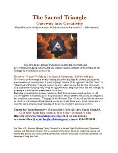 FlyersUp! The Sacred Triangle: Gateway into Creativity - Santa Cruz, CA