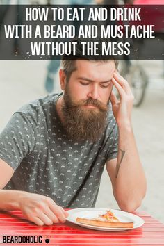 How to Eat and Drink with a Beard and Mustache Without the Mess. Beard Care From Beardoholic