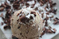 chocolate coconut yonana:2 frozen ripe bananas, 2 oz dark chocolate, 1⁄4 cup shredded coconut - See more at: http://yonanas.com/yonanas_recipes/chocolate-coconut-yonanas/#sthash.d1UxDiGS.dpuf
