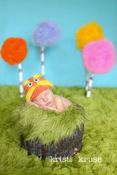 Newborn Baby Crochet Dr Suess The Lorax Hat Photography Prop