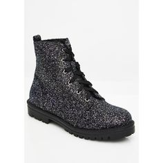 Glitter Lace Up Black Combat Boots ($38) ❤ liked on Polyvore featuring shoes, boots, combat boots, army boots, glitter boots, black shoes and black combat boots Stylish Boots For Women, Black Shoes, All Black Sneakers, Glitter Boots, Black Combat Boots, Fashion Boots, Hiking Boots, Army, Lace Up