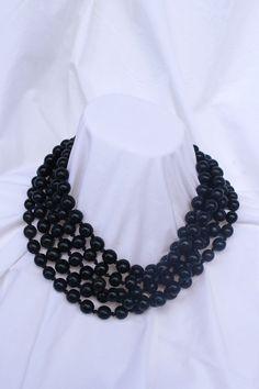 Beaded horn necklace Collar de asta de 5 por ElTallerAnaGaspar