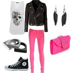 .I like this, but I'd wear black heels instead.