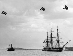 USS Constitution Sails Back To Boston 1934