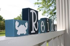 PERSONALIZED LETTER BLOCKS  Custom Nautical by KnottedPineDesign